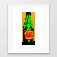 ale giorgini Framed Art Prints featuring Ale-8-One (Bottle) by Silvio Ledbetter