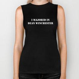 I Majored In Dean Winchester Biker Tank