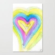 Spring Heart Canvas Print