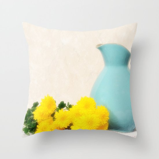 The Yellow Mums Throw Pillow