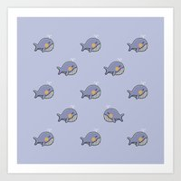 whales Art Prints featuring whales by Jarvis Glasses