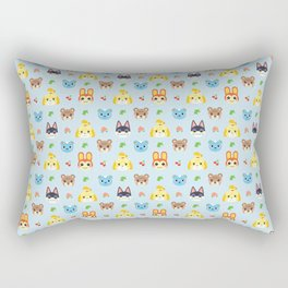 Animal Crossing - Blue Rectangular Pillow