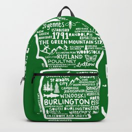 Vermont Map  Backpack