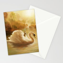 Isabella and the Swan Stationery Cards