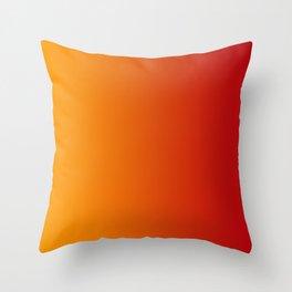Red Orange Gradient Throw Pillow