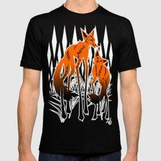 Foxes Mens Fitted Tee MEDIUM Black