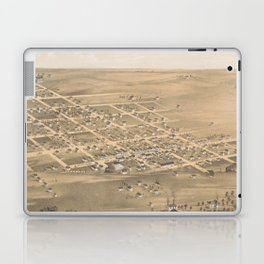 Vintage Pictorial Map of Holden MO (1869) Laptop & iPad Skin