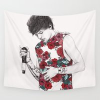 coconutwishes Wall Tapestries featuring Floral Louis by Coconut Wishes