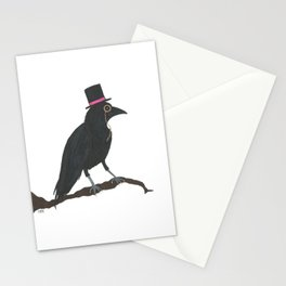 Crow in Top Hat Stationery Cards