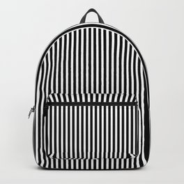 Classic Black and White Pinstripe Pattern Backpack