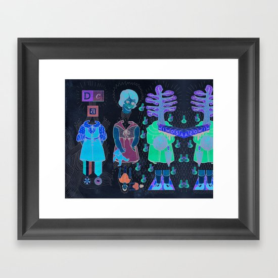 Silly Girls Framed Art Print