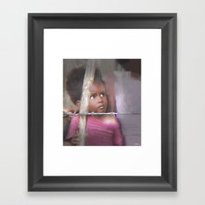 behind the barb Framed Art Print