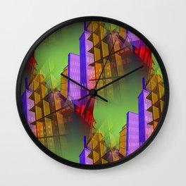 city pattern -2- Wall Clock