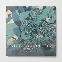 Stockton-on-Tees, United Kingdom - Cream Blue Metal Print