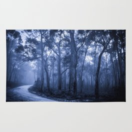 Dark Misty Road Rug