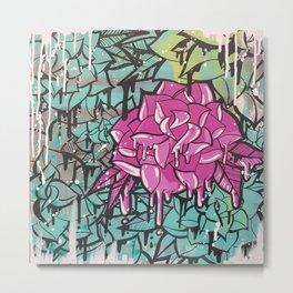 Drip Drop Graffiti Metal Print