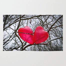 Two Little Hearts Kissing In A Tree Rug