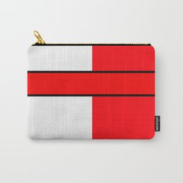 Team Color 6...red,white Carry-All Pouch