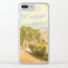 ALT, RUDOLF VON (1812 Vienna 1905) München vom Gasteig aus. Clear iPhone Case