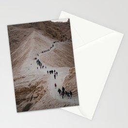 The Hike Up The Masada, Israel at Sunrise Stationery Cards