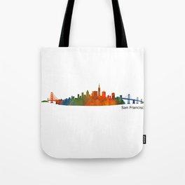 San Francisco City Skyline Hq v1 Tote Bag