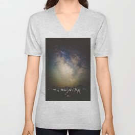 Erupting Galaxy Unisex V-Neck