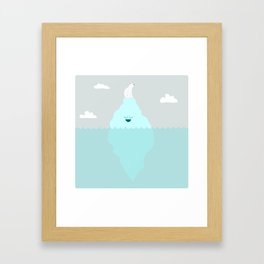 Floating Along Framed Art Print
