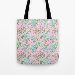 Midcentury Meadow in Dusty Peach Tote Bag