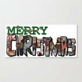 Big Letter Merry Christmas Canvas Print
