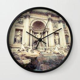 Poseidone Fontana Di Trevi, Rome - Italy Wall Clock