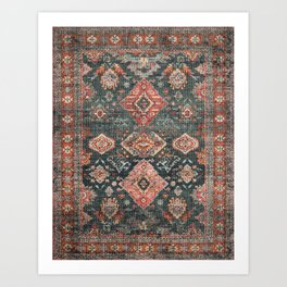 N255 - Vintage Oriental Old Traditional Boho Moroccan Fabric Style Art Print