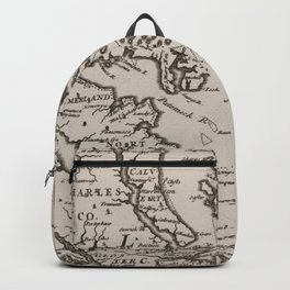 Vintage Map of The Chesapeake Bay (1681) Backpack
