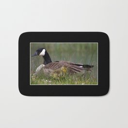 mother and gosling Bath Mat