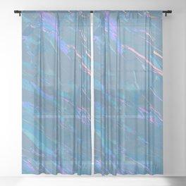 Holographic Artwork No 7 (Crystal) Sheer Curtain