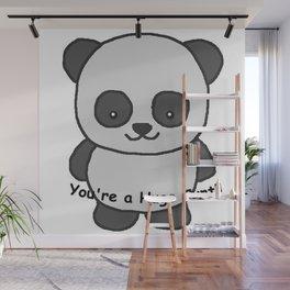 Panda says you're a huge cunt Wall Mural