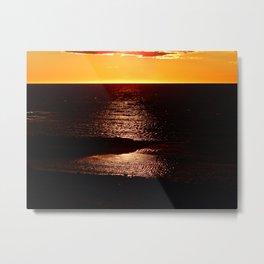 Glowing Sunset on the Sea Metal Print