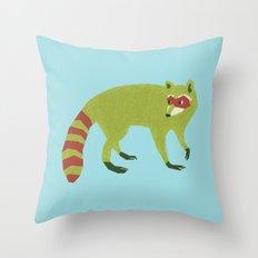 Raccooooooon Throw Pillow