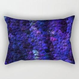 Night Blue Cubes Rectangular Pillow