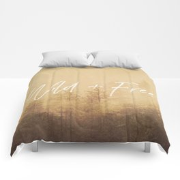 Wild And Free - Cascadia Forest Comforters