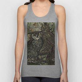 My owls in batik style Unisex Tank Top