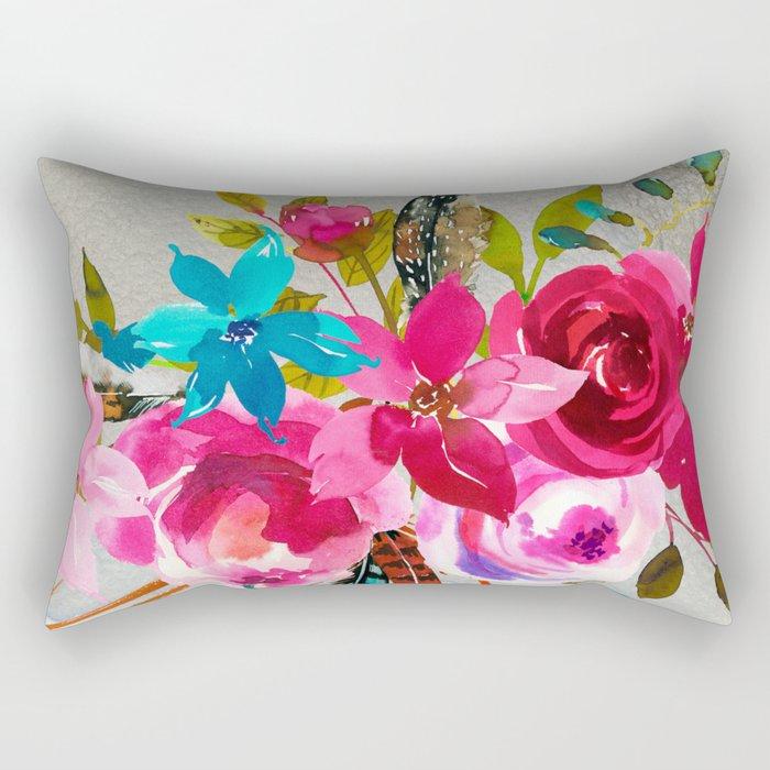 Flowers bouquet #39 Rectangular Pillow