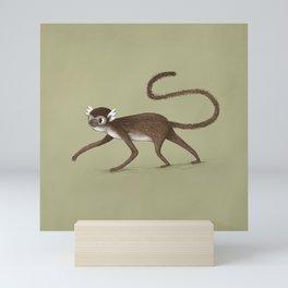 Squirrel Monkey Walking Mini Art Print