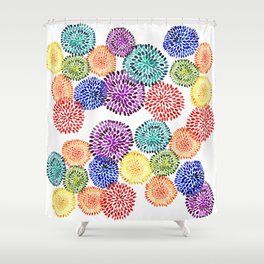 Dancing Dahlias Shower Curtain
