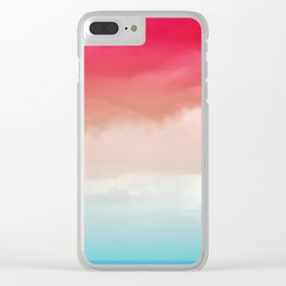 Colorful Landscape Clear iPhone Case