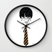 potter Wall Clocks featuring Iconic Potter by Arne AKA Ratscape