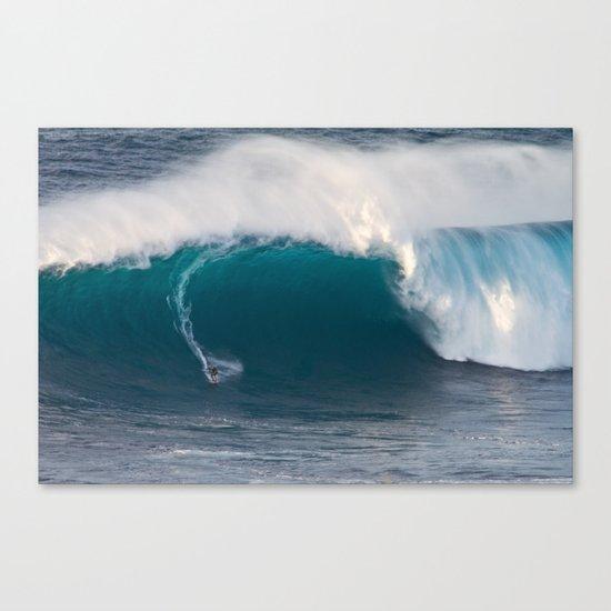 "Surfing ""Jaws"" (Pe'ahi) Canvas Print"