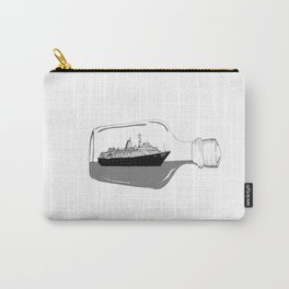 Ship in a Bottle Vintage Carry-All Pouch