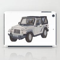 jeep iPad Cases featuring Jeep Wrangler 2012 by Megan Yiu