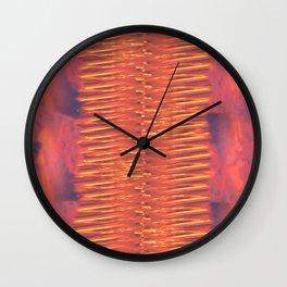 Lava Lamp Skies Wall Clock