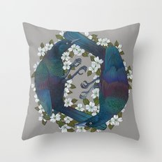 Grackels Throw Pillow